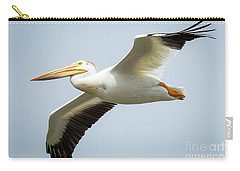 American White Pelican Flyby  Carry-all Pouch