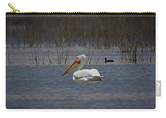 American White Pelican Searching Da Carry-all Pouch by Ernie Echols