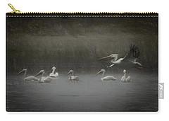 American White Pelicans Da Carry-all Pouch by Ernie Echols