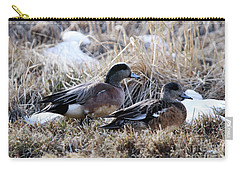 American Wigeon Mated Pair Carry-all Pouch