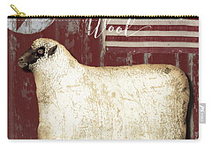 American Wool Carry-all Pouch by Mindy Sommers