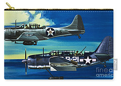 American Ww2 Planes Douglas Sbd1 Dauntless And Curtiss Sb2c1 Helldiver Carry-all Pouch