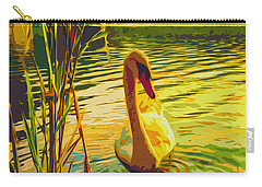 Carry-all Pouch featuring the digital art America's Wetlands by Chuck Mountain