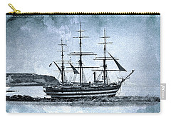 Amerigo Vespucci Sailboat In Blue Carry-all Pouch
