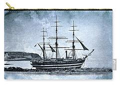 Amerigo Vespucci Sailboat In Blue Carry-all Pouch by Pedro Cardona