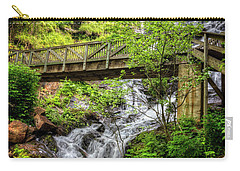 Carry-all Pouch featuring the photograph Amicalola Falls Top To Bottom by Debra and Dave Vanderlaan