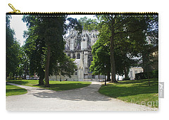 Carry-all Pouch featuring the photograph Amiens Cathedral - Park View by Therese Alcorn