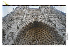 Carry-all Pouch featuring the photograph Amiens Cathedral by Therese Alcorn