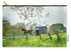 Amish Buggy Along Ronks Road Carry-all Pouch
