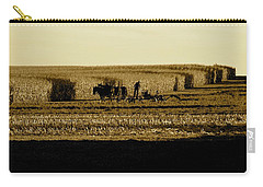 Amish Cornfield In Shadows Carry-all Pouch