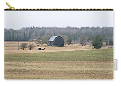 Carry-all Pouch featuring the photograph Amish Country 0754 by Michael Peychich