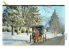 Amish Winter Carry-all Pouch