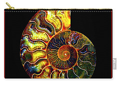 Ammonite Fossil - 8322-3 Carry-all Pouch