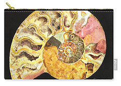 Ammonite Fossil Carry-all Pouch