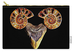 Ammonite On Megolodom - 8283 Carry-all Pouch