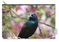 Carry-all Pouch featuring the digital art Among The Blooms by Betty LaRue