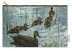 Carry-all Pouch featuring the photograph Among The Reeds by Mark Blauhoefer