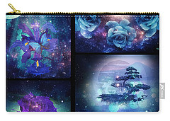 Carry-all Pouch featuring the digital art Among The Stars Series by Mo T