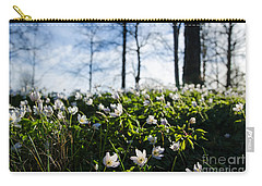 Carry-all Pouch featuring the photograph Among Windflowers On The Ground by Kennerth and Birgitta Kullman