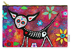 Carry-all Pouch featuring the painting Amor Pelado by Pristine Cartera Turkus