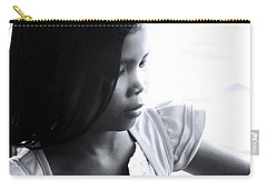Carry-all Pouch featuring the photograph Amore Is Pensive Of The World by Jez C Self