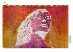 Carry-all Pouch featuring the painting Amphitrite Siren Of Sunset Reef by Donna Walsh