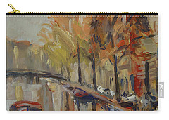 Amsterdam Autumn With Boat Carry-all Pouch