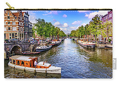 Amsterdam Pleasure Boat Carry-all Pouch by Janis Knight