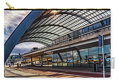 Amsterdam Train Station Carry-all Pouch by Janis Knight