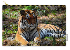 Carry-all Pouch featuring the mixed media Amur Tiger 1 by Angelina Vick