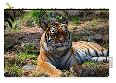 Carry-all Pouch featuring the mixed media Amur Tiger 10 by Angelina Vick