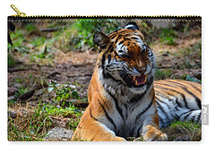 Carry-all Pouch featuring the mixed media Amur Tiger 3 by Angelina Vick