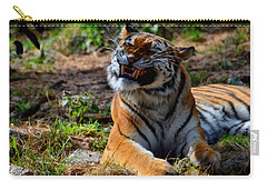Carry-all Pouch featuring the mixed media Amur Tiger 6 by Angelina Vick