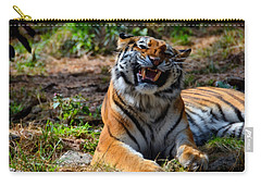 Carry-all Pouch featuring the mixed media Amur Tiger 7 by Angelina Vick