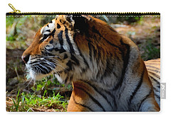 Carry-all Pouch featuring the mixed media Amur Tiger 9 by Angelina Vick
