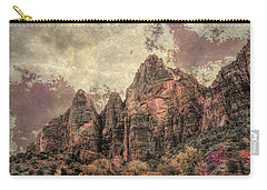 Carry-all Pouch featuring the photograph An Abstract Of Zion by John M Bailey