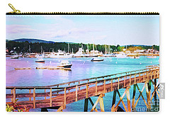 An Abstract View Of Southwest Harbor, Maine  Carry-all Pouch