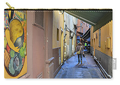 Carry-all Pouch featuring the photograph An Alley In Nice by Allen Sheffield