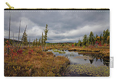 Carry-all Pouch featuring the photograph An Autumn Afternoon On Raquette Lake by David Patterson