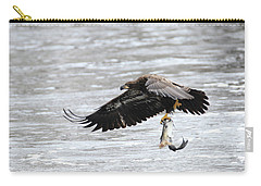 An Eagles Catch 10 Carry-all Pouch by Brook Burling
