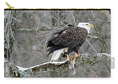 An Eagles Catch Carry-all Pouch by Brook Burling