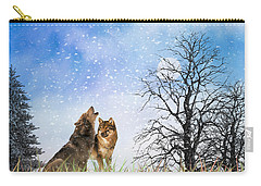 An Early Winter Howl Carry-all Pouch by Diane Schuster