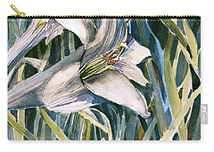 Carry-all Pouch featuring the painting An Easter Lily by Mindy Newman