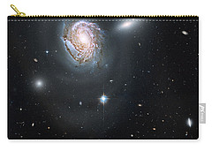 Carry-all Pouch featuring the photograph An Island Universe In The Coma Cluster by Nasa