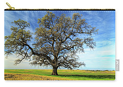 Carry-all Pouch featuring the photograph An Oak In Spring by James Eddy