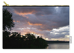 An Ohio River Valley Sunrise Carry-all Pouch by Skyler Tipton