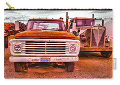 Carry-all Pouch featuring the photograph An Old Ford And Kenworth by Jeff Swan
