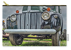Carry-all Pouch featuring the photograph An Old Green Ford Truck by Guy Whiteley