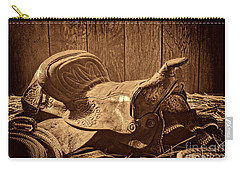 An Old Saddle Carry-all Pouch by American West Legend By Olivier Le Queinec