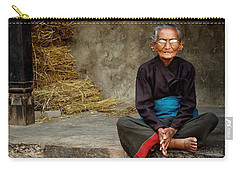 An Old Woman In Bhaktapur Carry-all Pouch